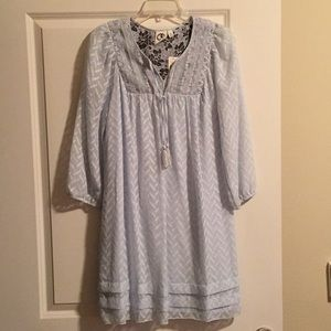 Anthropologie baby blue dress